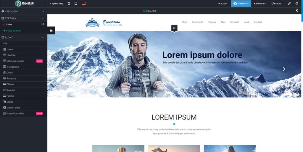 Zombeek-uprava-webu