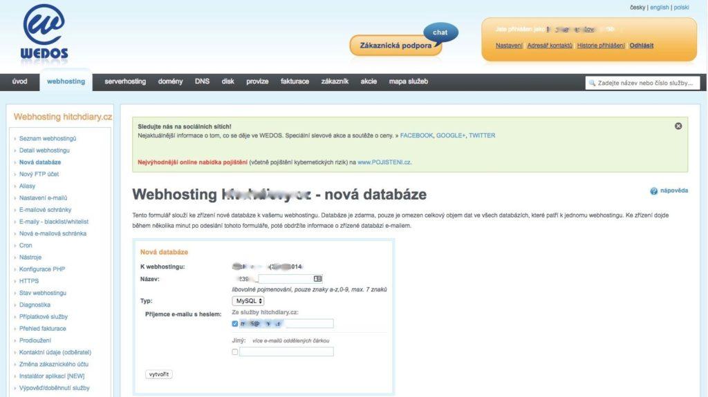 Wedos-webhosting