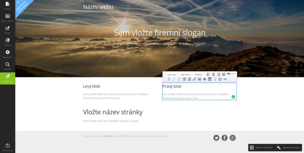 Mozello-uprava-webu