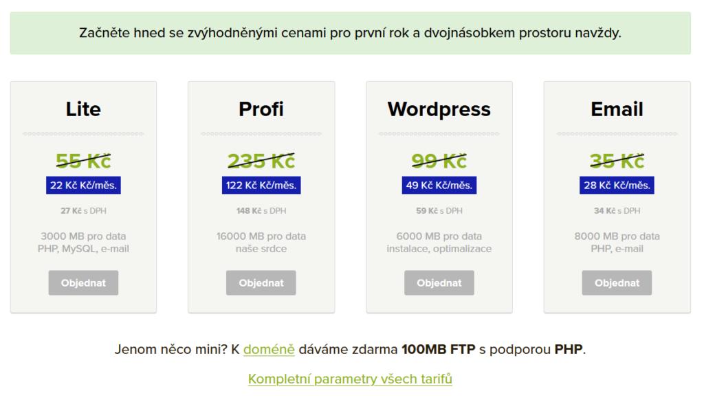 Vas Hosting Webhosting Cenik