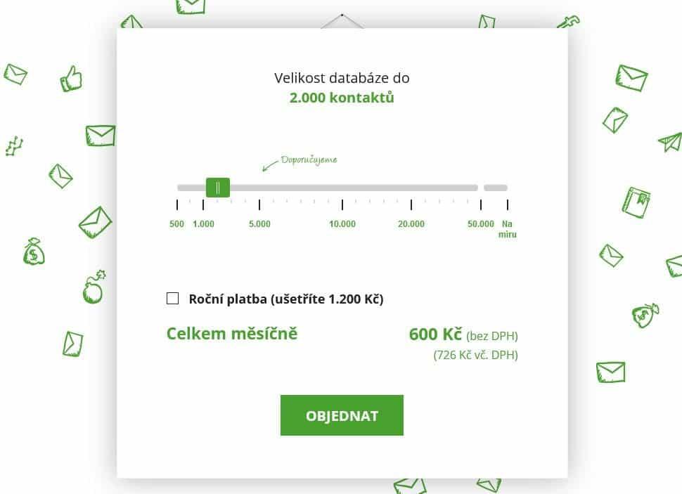 Smartemailing Cena 2000 Kontaktu