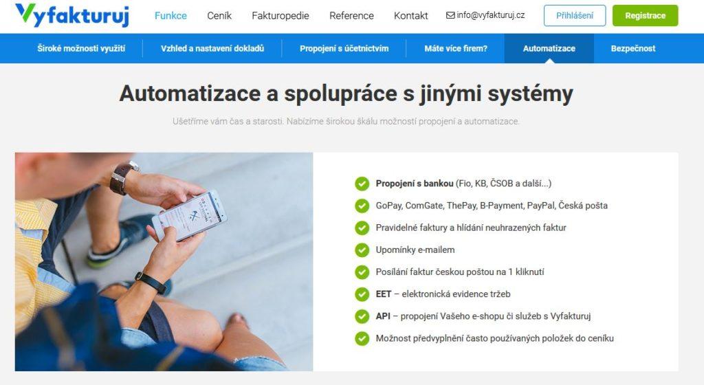 Vyfakturuj Propojeni S Bankou Automatizace
