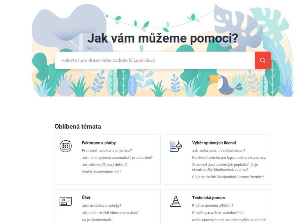 Shutterstock Podpora