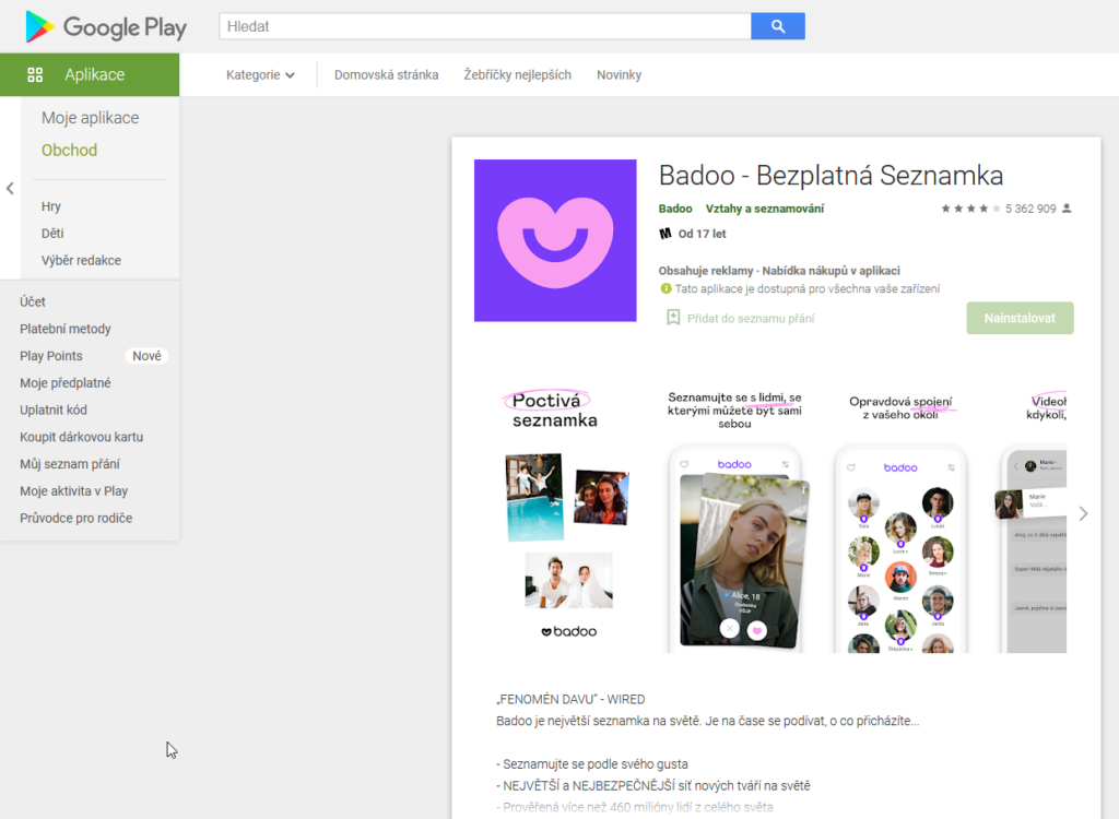 Badoo Google Play