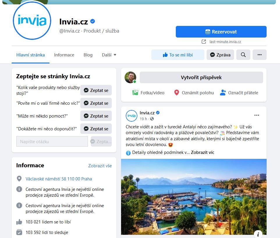 Invia Facebook
