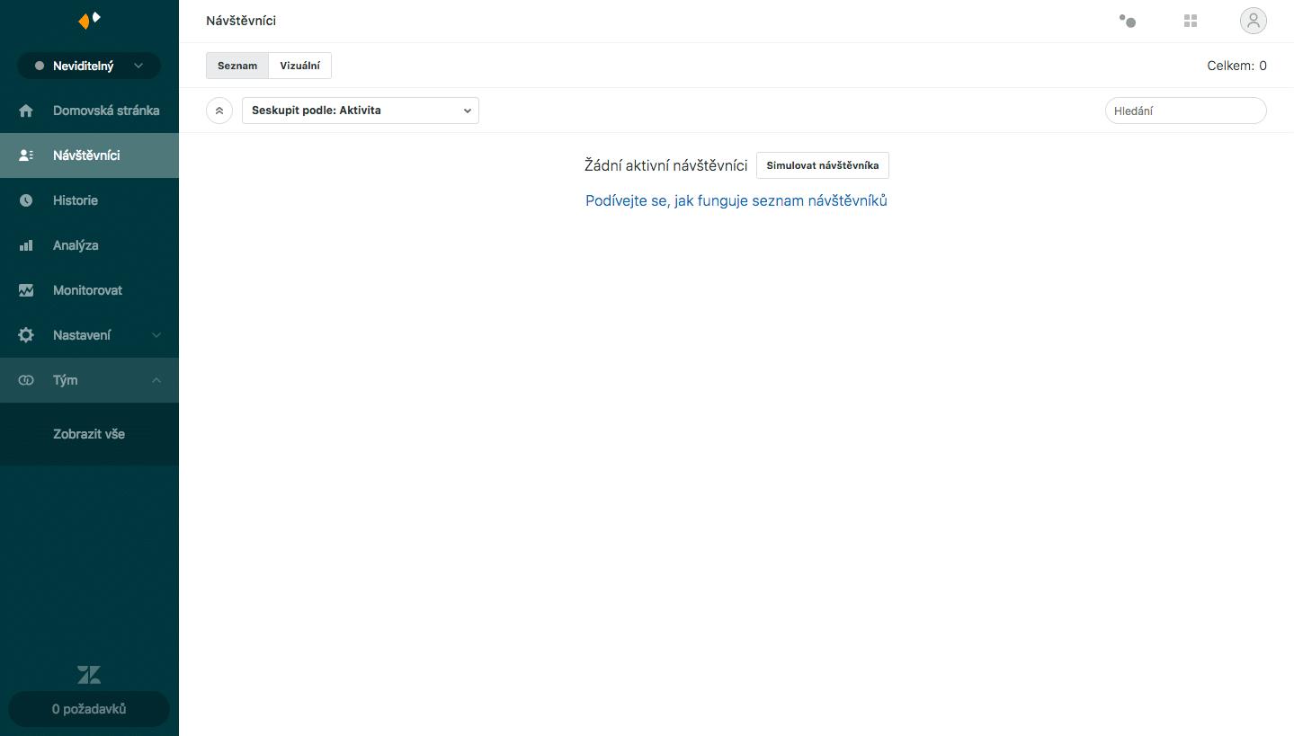 Live chat. Sekce FAQ na webu. Web.