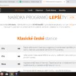 LepšíTV - nabídka tarifů