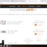 LepšíTV - objednávka