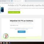 O2 - TV - objednání tarifu