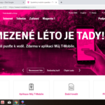 T-mobile - základní obrazovka