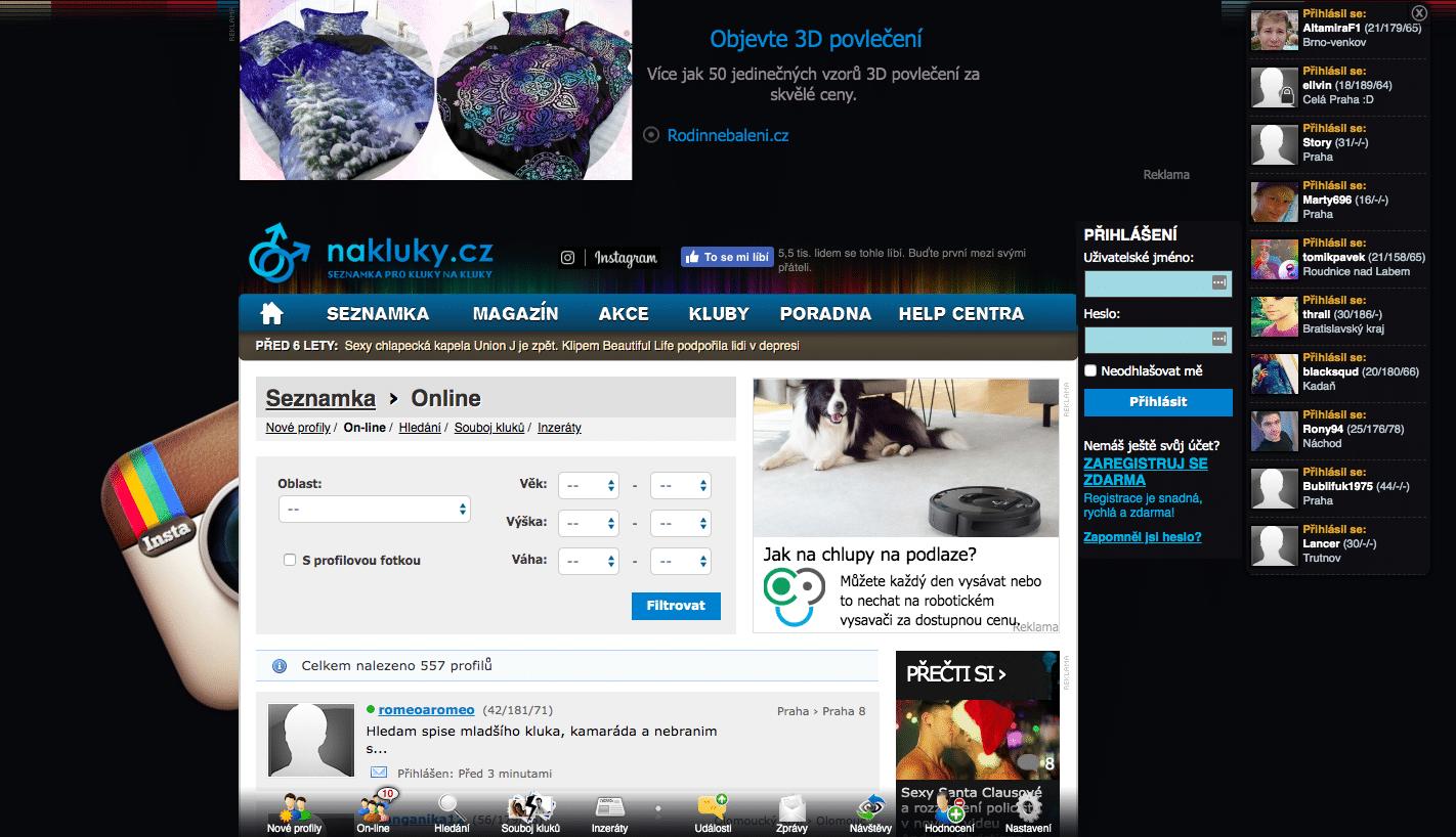 Affiliate webová stránka seznamka