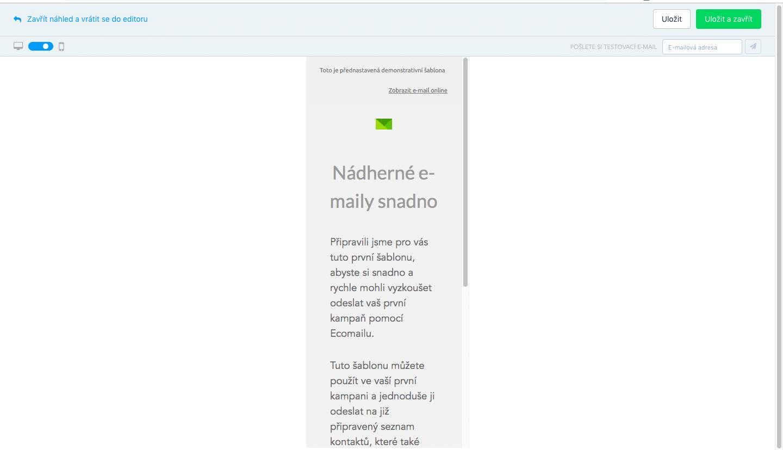 příklady online otevírání e-mailů