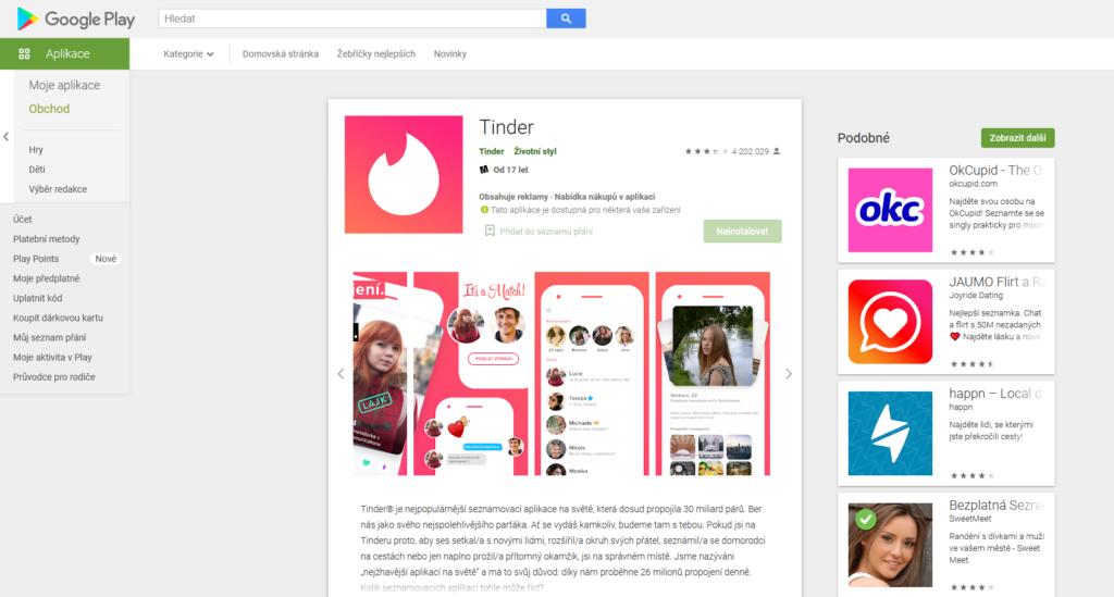 Tinder Aplikace Pro Android