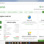 Creditportal - uvodni obrazovka
