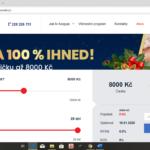 SOScredit - uvodni obrazovka
