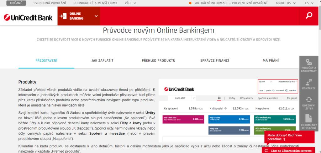 Unicredit Pruvodce Internet Bankingem