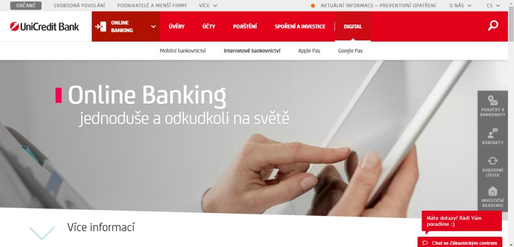 Unicredit Strana Pro Online Banking
