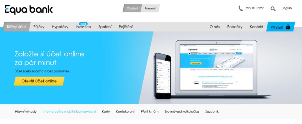 Equa Bank Internetove Bankovnictvi