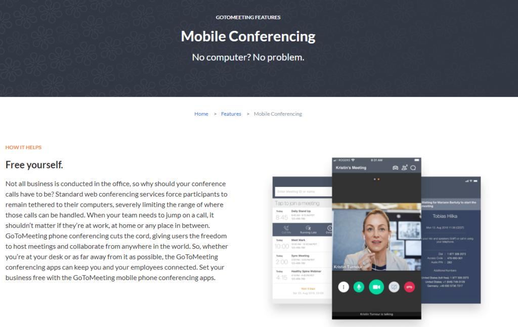 Gotomeeting Konference Pres Mobilni Telefon