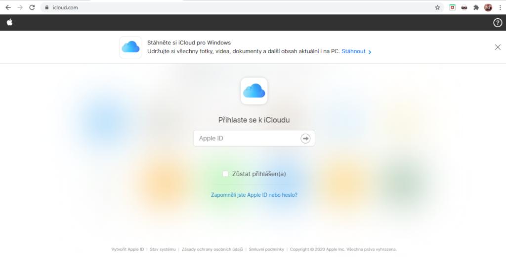 Icloud Prihlaseni Zadani Apple Id 1