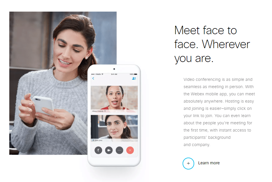 Webex Aplikace Pro Telefon