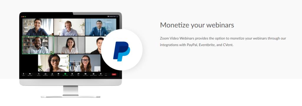 Zoom Webinare Monetizace