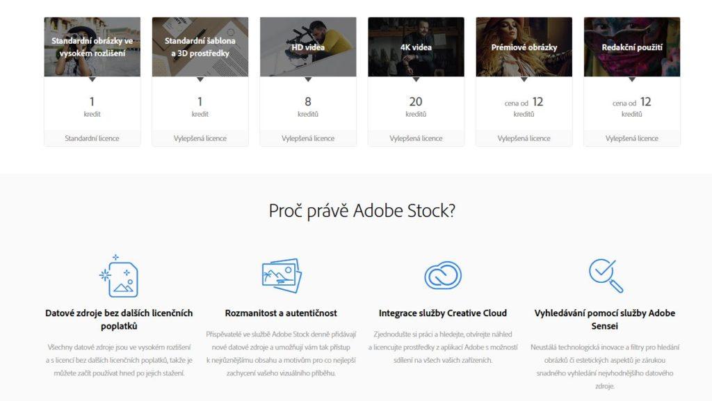 Adobe Fotolia Rozsah Sluzeb