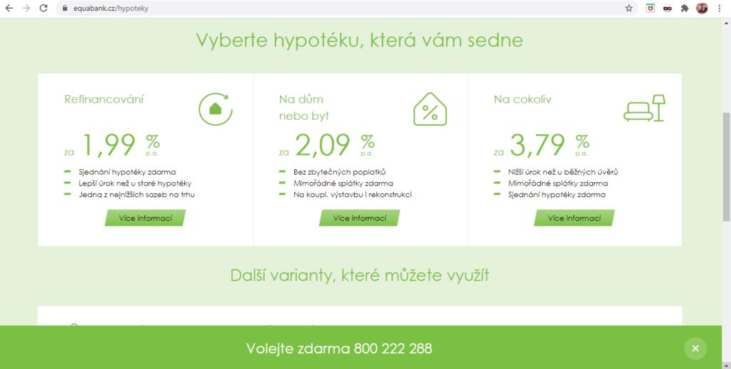 Equa Bank Hypoteka Tri Zakladni Typy