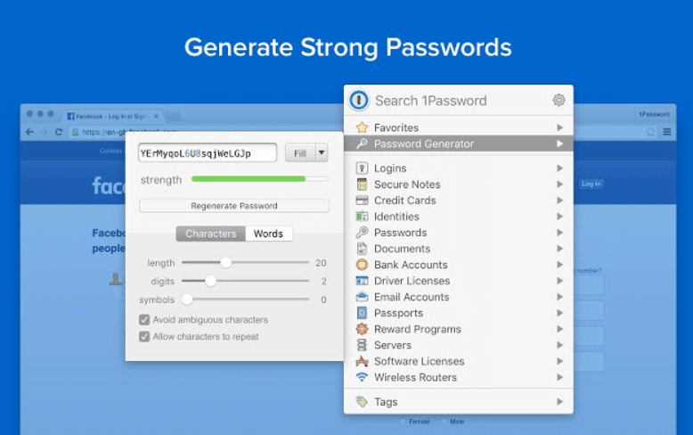 1password Chrome