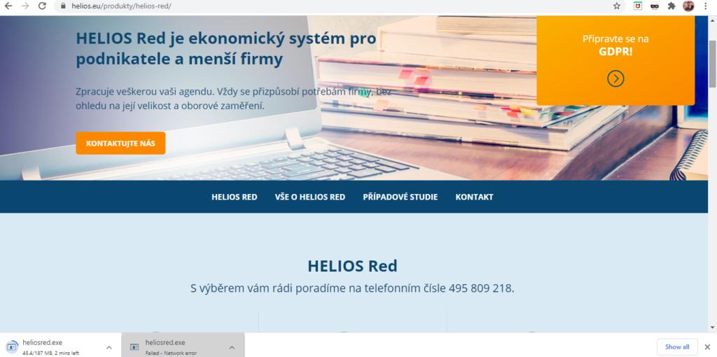 Helios Red Uvidni Strana Webu
