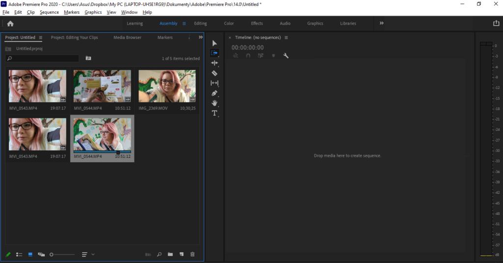 Adobe Premiere Pro Import Souboru