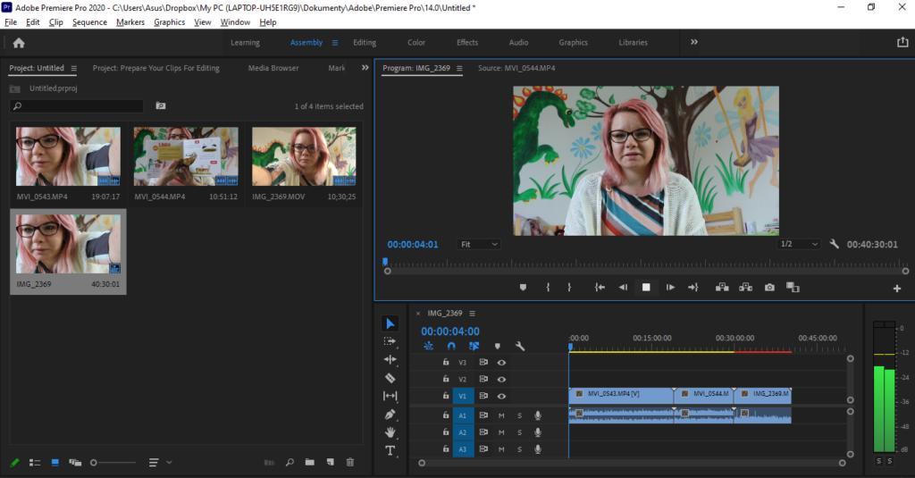 Adobe Premiere Pro Prace Na Videu