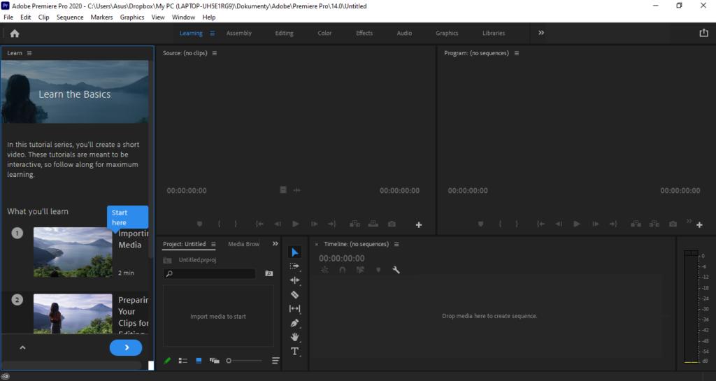 Adobe Premiere Pro Ukazka Editace