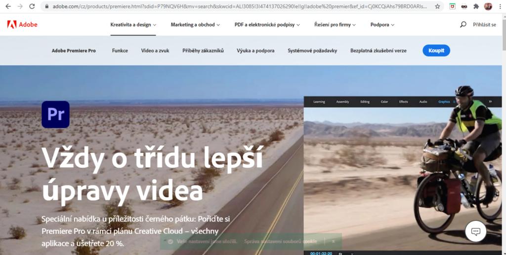 Adobe Premiere Pro Uvodni Strana