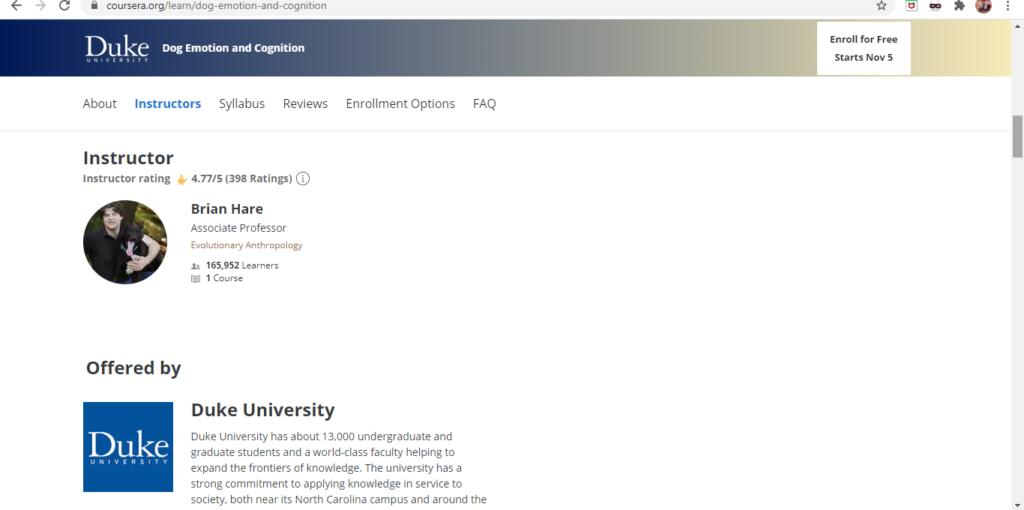 Coursera Informace O Lektorovi