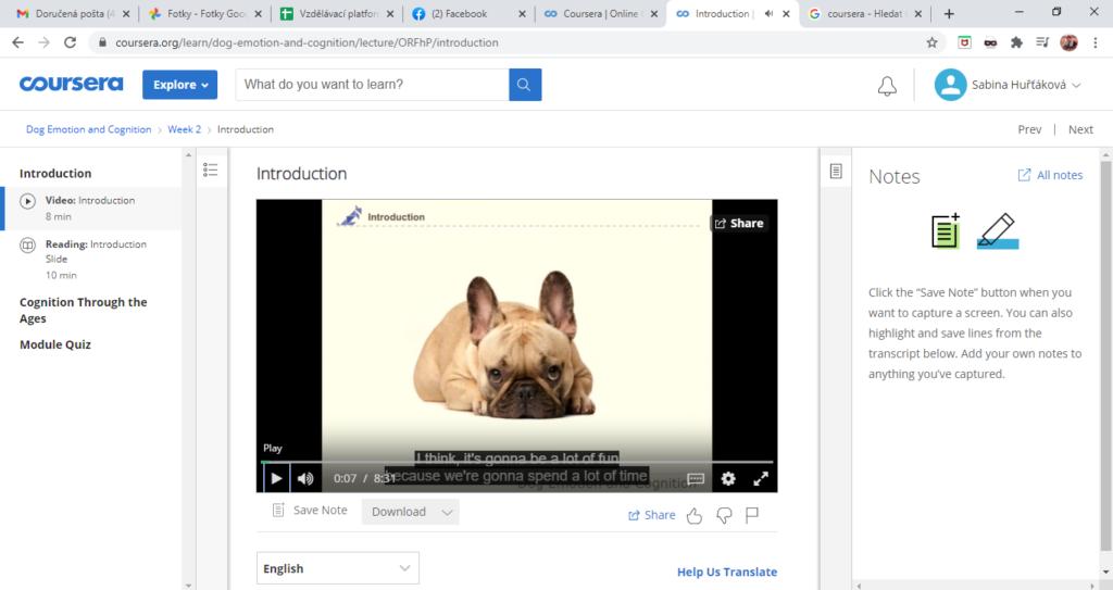 Coursera Prostredi Vybraneho Kurzu