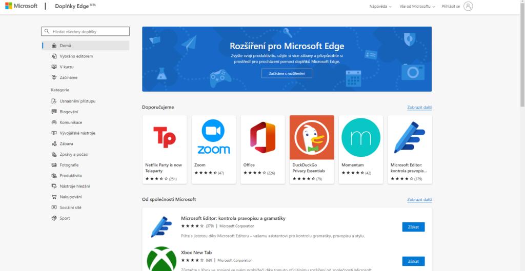 Microsoft Edge Doplnky Add Ons