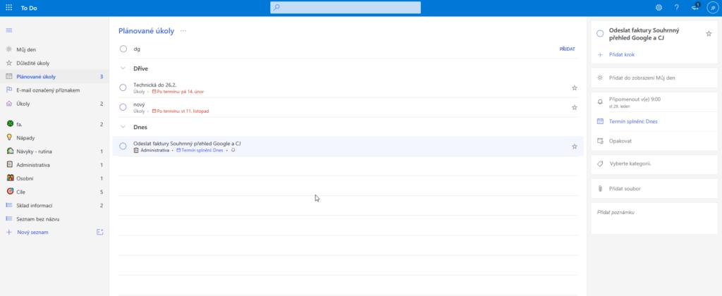 Microsoft To Do Webove Rozhrani2
