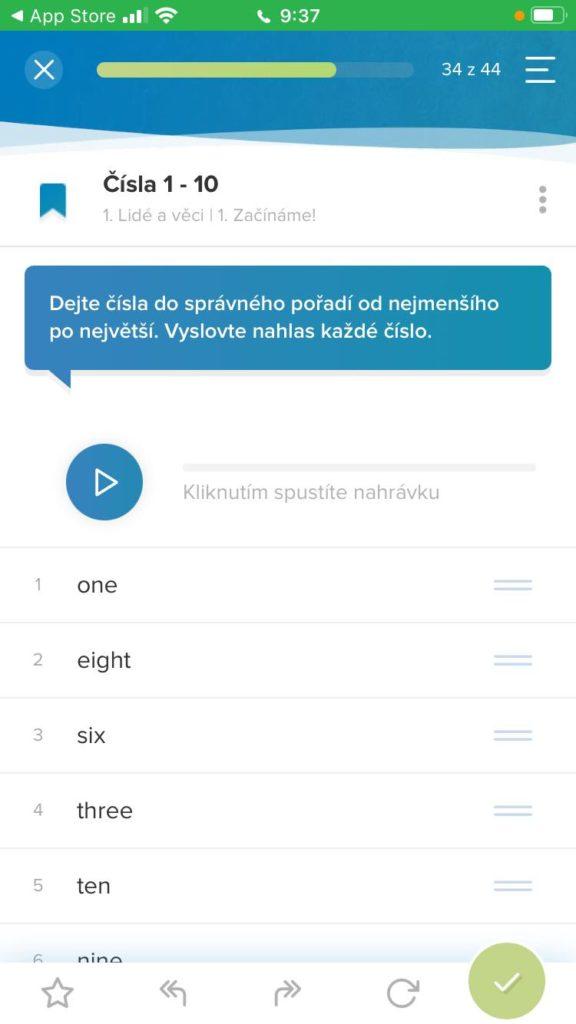 Aplikace Onlinejazyky Lekce Procvicovani Cisel