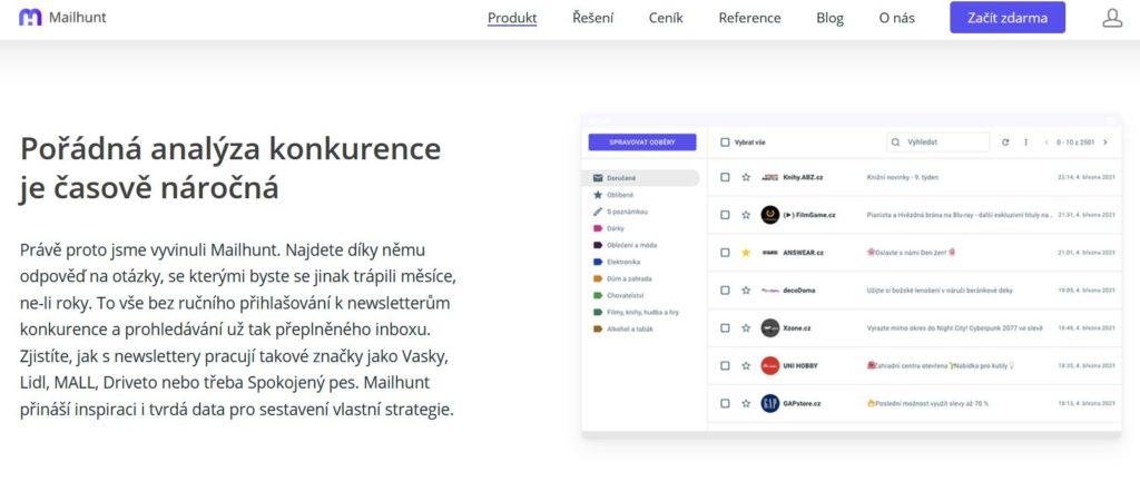 Mailhunt Analyza Konkurence