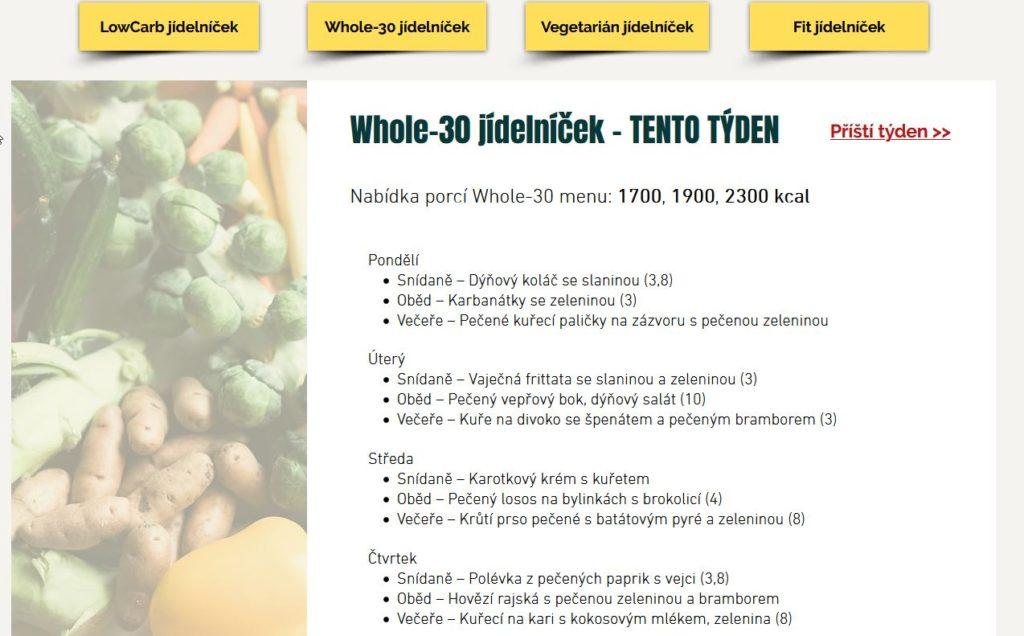 Nutric Bistro Jidelnicek