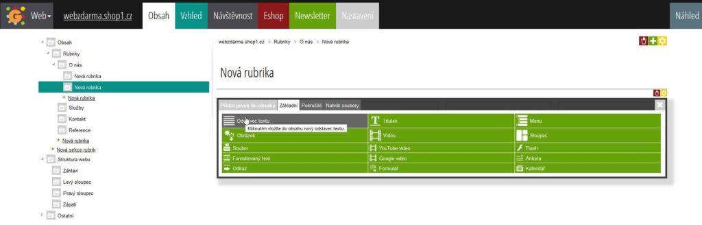 Webgarden Editor