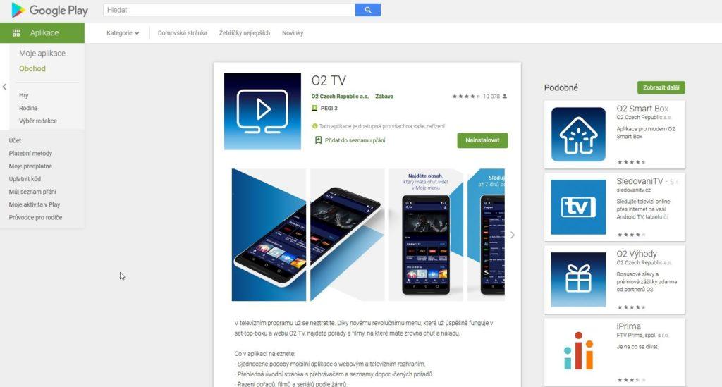 O2 Tv Aplikace Android
