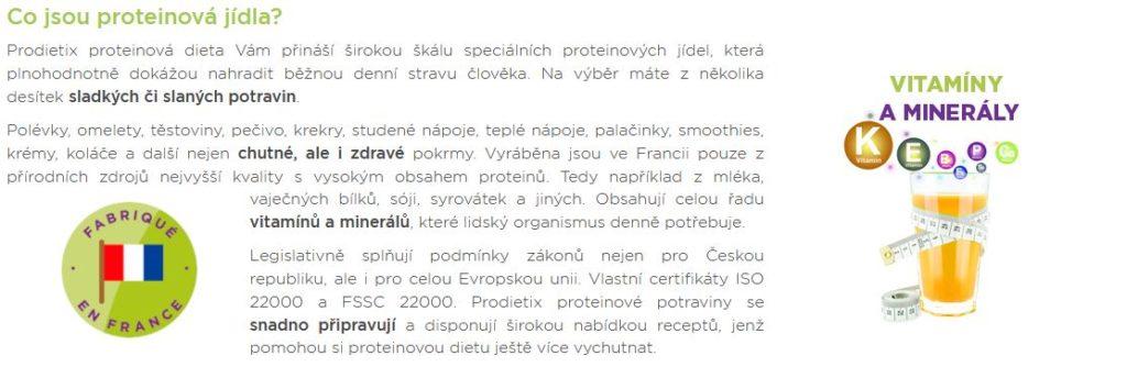 Prodietix Proteinova Jidla