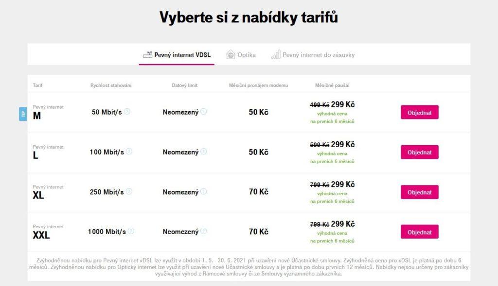 T Mobile Vdsl Ceny