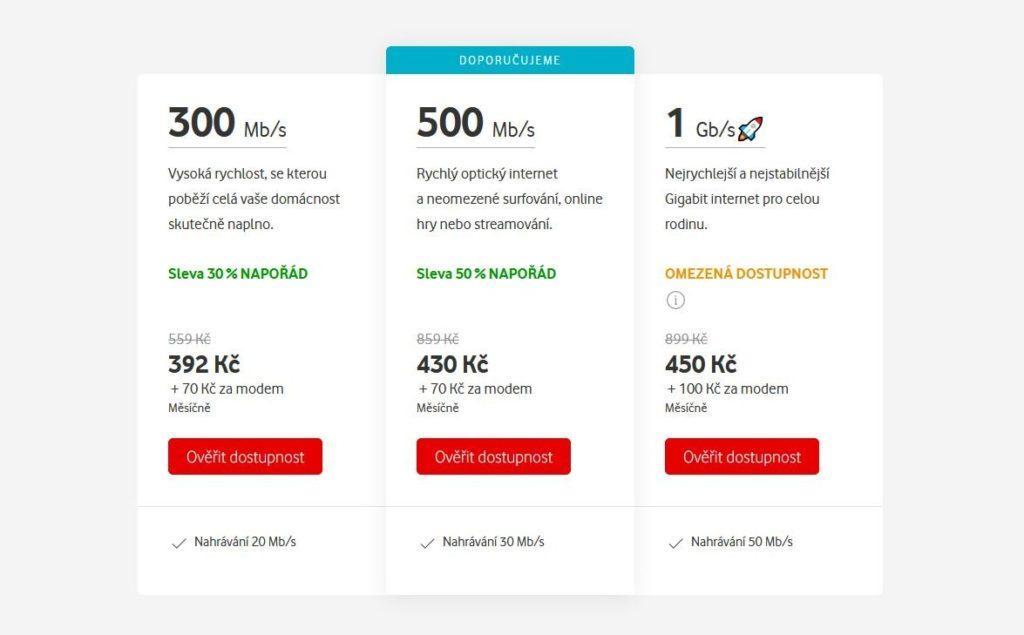 Vodafone Internet Cenik