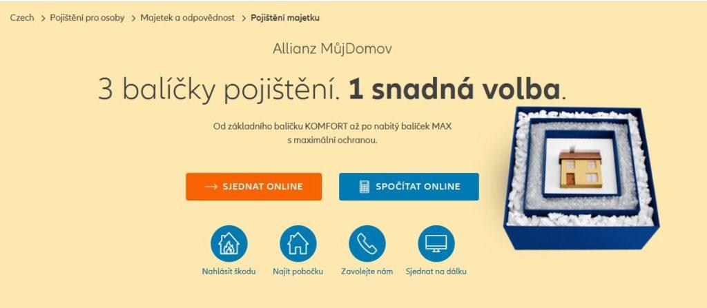 Allianz Domov Sjednani Online