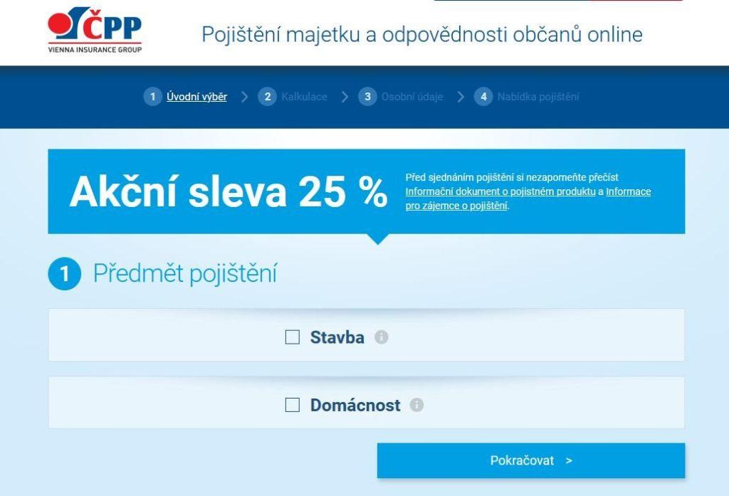 Cpp Pojisteni Domacnosti Kalkulace Online