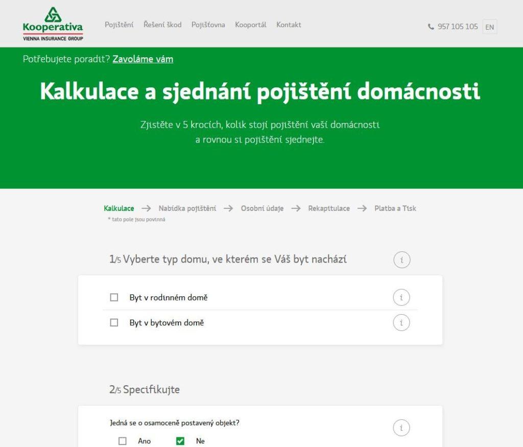 Kooperativa Pojisteni Domacnosti Sjednani Online