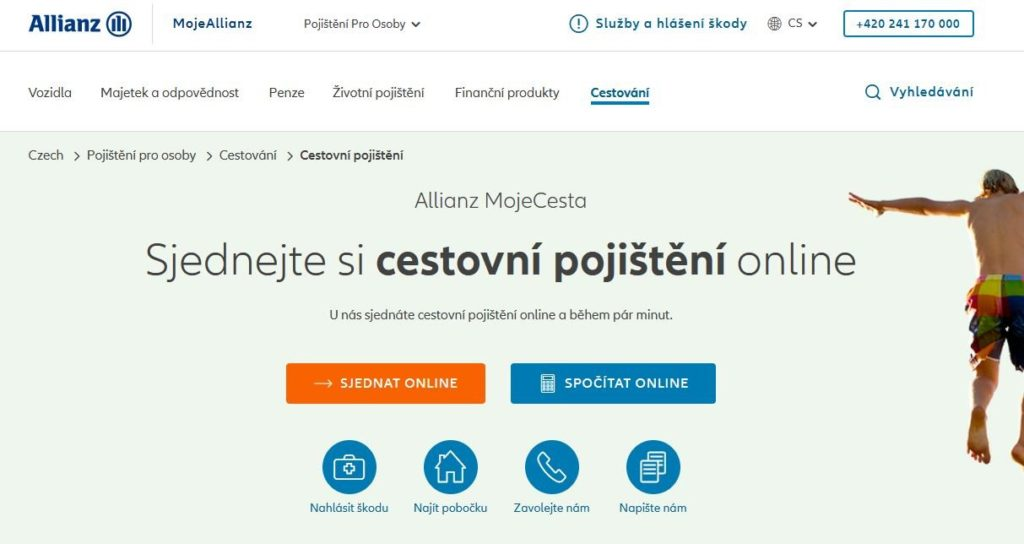 Allianz Cestovni Pojisteni Sjednani